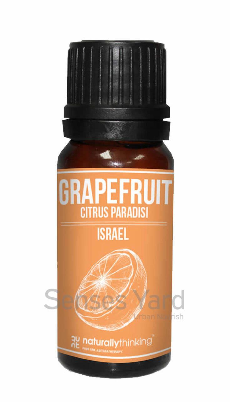 Grapefruit Essential Oil / 葡萄柚精油的功效:淨化思緒,舒緩壓力/改善血液循環/舒緩頭痛及鼻塞。Quality Essential Oil from Naturallythinking.