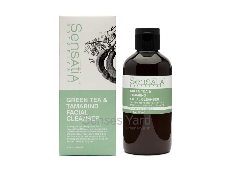 Green Tea&Tamarind Facial Cleanser / 綠茶羅望子潔面液含豐富的維他命和抗氧化物,能排出肌膚毒素、維持健康和光澤的肌膚。適用肌膚:混合性肌膚。主要成份:綠茶Green Tea、羅望子Tamarind、蘆薈Aloe Vera、楊桃Star Fruit。