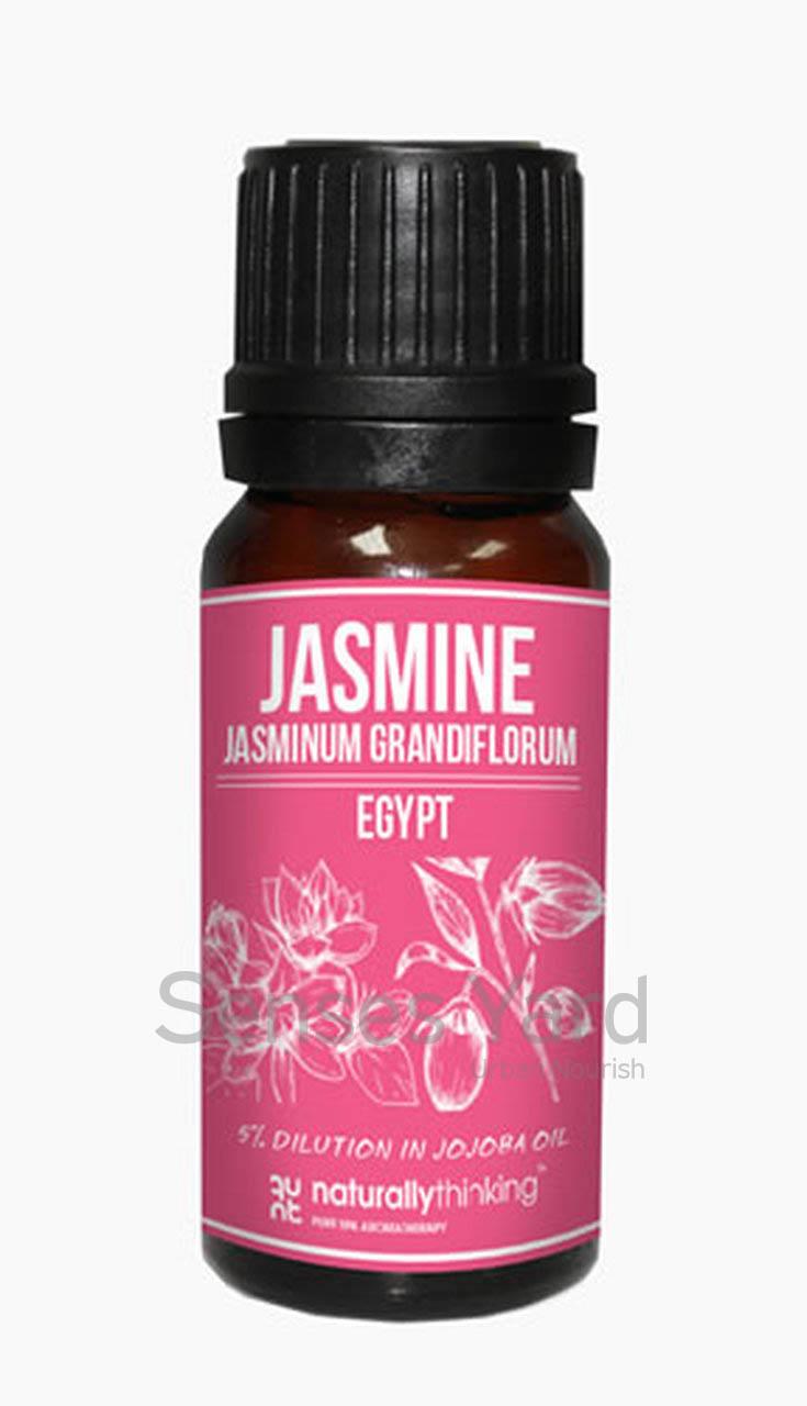 Jasmine 5% Dilution in Organic Jojoba Oil / 茉莉花精油5%(荷荷巴油)能平衡油膩的皮膚/增加皮膚彈性/舒解抑鬱、安神,有助恢復能量/適合敏感皮膚。Quality Dilution Essential Oil from Naturallythinking.