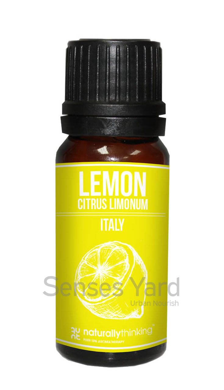 Lemon Essential Oil / 檸檬精油的功效:振奮精神、令人感到清爽/舒緩頭痛。Quality Essential Oil from Naturallythinking.