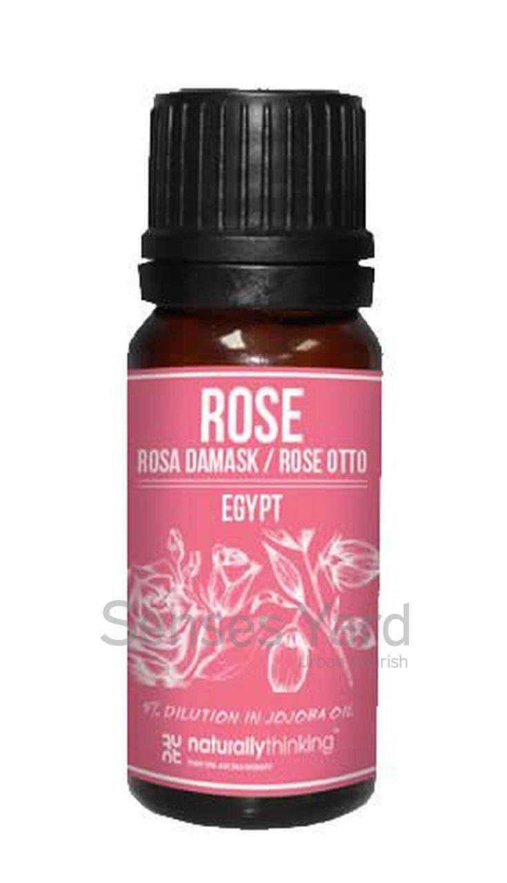 Rose Otto Damask 5% Dilution in Organic Jojoba Oil / 玫瑰精油5%(荷荷巴油)的功效:改善乾燥肌膚及毛細血管破裂問題/緩解抑鬱。Quality Essential Oil from Naturallythinking.