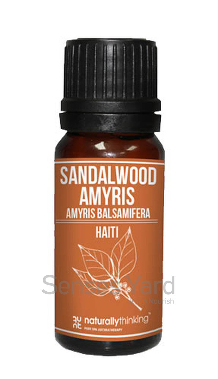 Sandalwood Amyris (West Indian Sandalwood) Essential Oil / 西印度檀香精油的功效:平靜情緒/放鬆減壓。Quality Essential Oil from Naturallythinking.