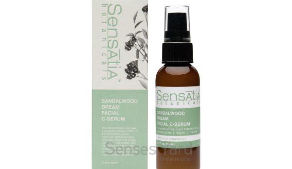 Sandalwood Dream Facial C-Serum / 檀香舒緩C精華含有豐富維他命C及植物成份,有助穩定皮膚狀態,改善皮膚膚色,變得更明亮、更有光澤,高強度抗氧化能保護皮膚免受紫外線及環境傷害。適用肌膚:混合性肌膚。主要成份:檀香油Sandalwood Oil、卡卡杜李Kakadu Plum、摩洛哥堅果油Argan Oil、玫瑰果油Rosehip Oil。