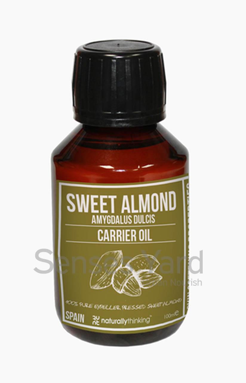 Almond (Sweet Almond) Carrier Oil / 甜杏仁基底油含有豐富維他命及礦物質/肌膚極易吸收,能滋潤保濕,修護肌膚/有助減輕皮膚發炎及紅腫、舒緩乾燥肌膚的痕癢/特別適合乾燥、敏感及發炎肌膚使用。Quality Carrier Oil from Naturallythinking.