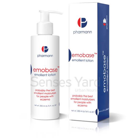 醫學級品牌Pharmann Emobase™ emollient lotion 潤膚護理乳液(無類固醇)的低敏性醫學配方讓潤膚護理乳液迅速被皮膚吸收,快速舒緩及修護乾燥過敏肌膚,特別是濕疹及異位性皮膚炎。滋潤而不油膩的質地,適用於面部及全身。