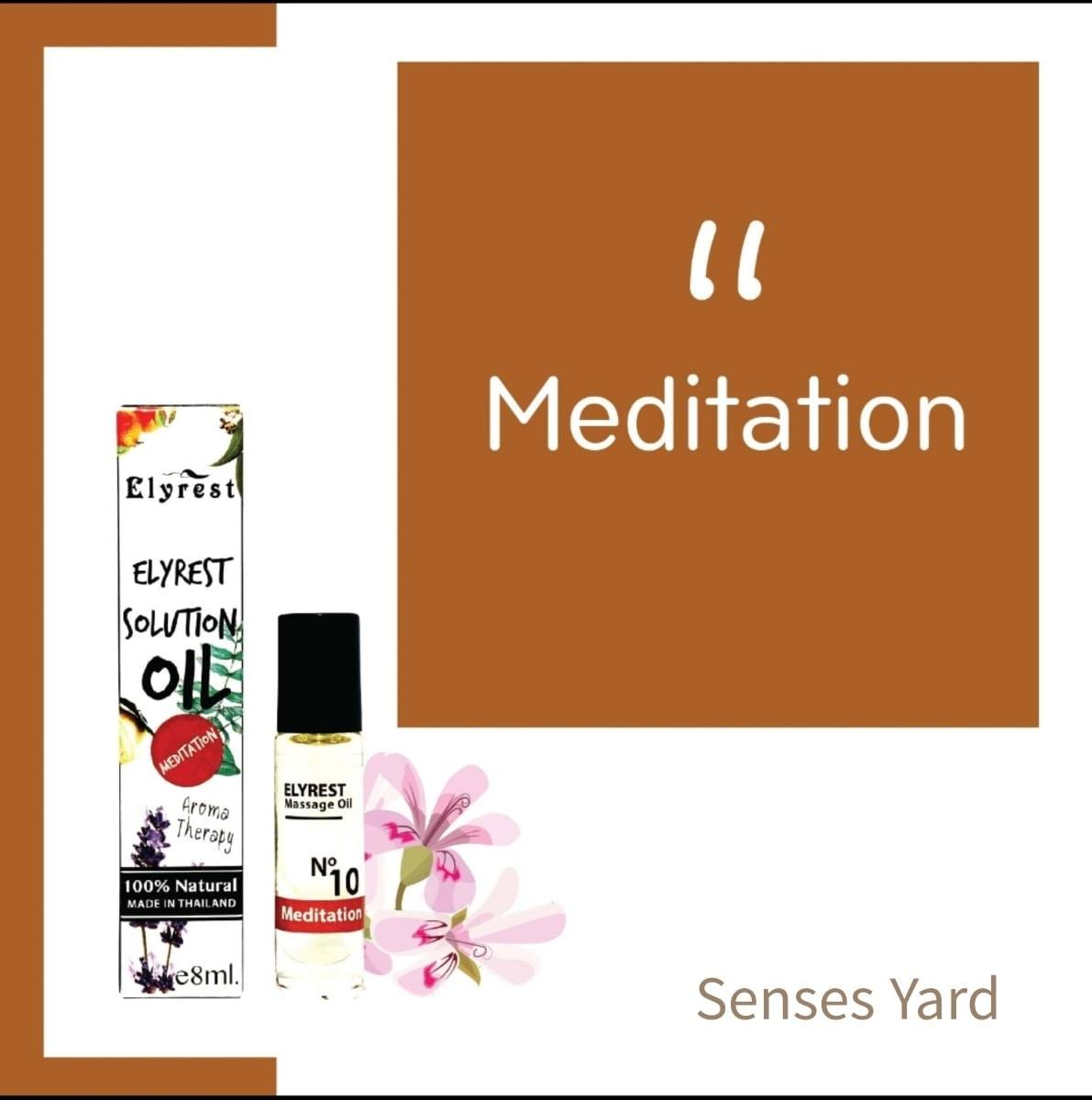Elyrest Solution Oil Roll-On No.10 Meditation / 靜坐冥想香薰精油 SENSESYARD